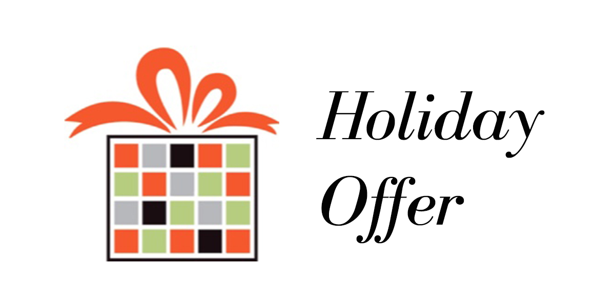 a gift box with the words holiday offer