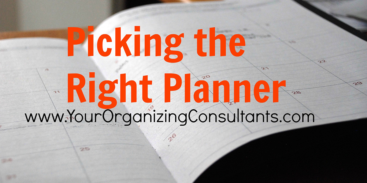 an open planner with text that reads, picking the right planner
