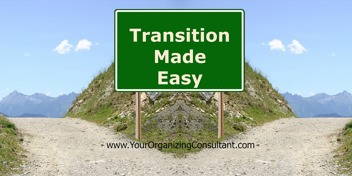 A cross roads with a sign that says transition made easy