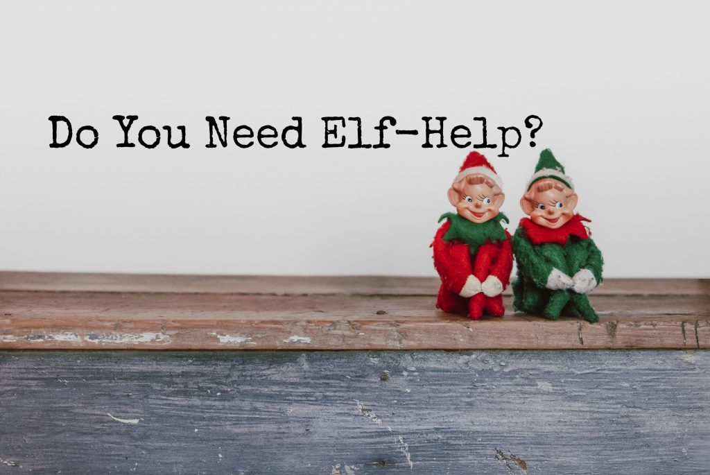 two elves on a shelf
