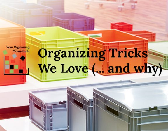 colorful organizing crates