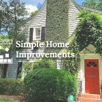 Image of a home with the text simple home improvements
